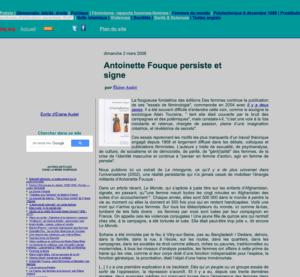 Antoinette Fouque Site Sisyphe