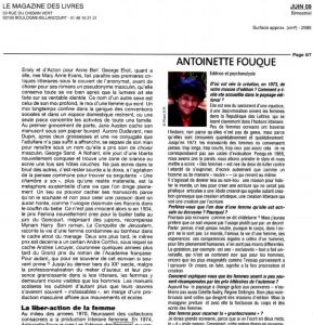 Antoinette Fouque le-magazine-des-livres