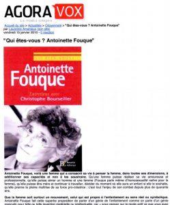 Antoinette Fouque agoravox