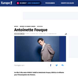 Antoinette Fouque Site Europe 1