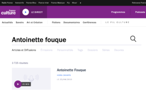 Antoinette Fouque Site France Culture 2