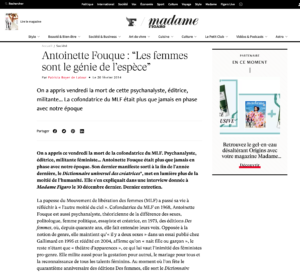 Antoinette Fouque Site Madame Figaro