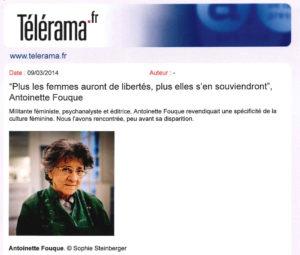 Antoinette Fouque telerama